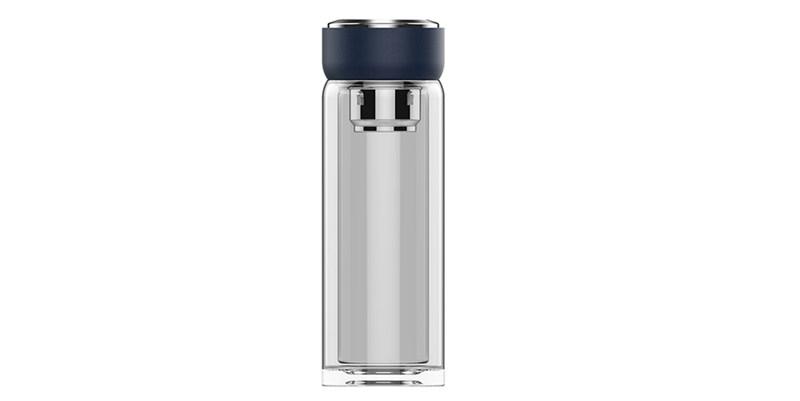 高級ビジネス真空耐熱Schottガラスウォーターカップ