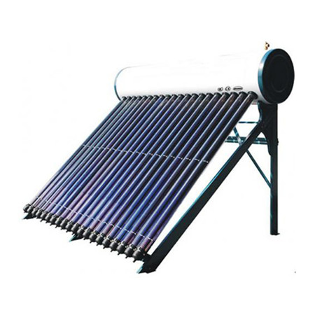Split Pressurized Solar Water Heater System Consists of Flat Plate Solar Collector, Vertical Hot Water Storage Tank, Pump Station and Expansion Vessel