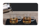 Subvert tradition, invert tea bottle